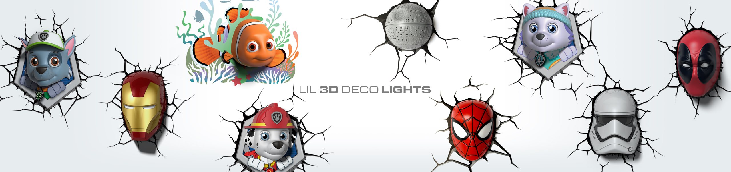 Lil 3D Deco Lights Banner